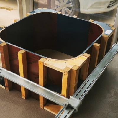 圆角柱模板,圆弧柱模板厂家定制