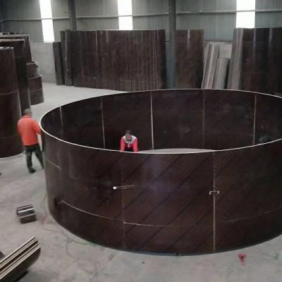 圆形水池模板加固图
