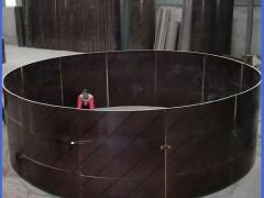 圆弧形墙木模板加固承载计算【弧长6米,高度2米】